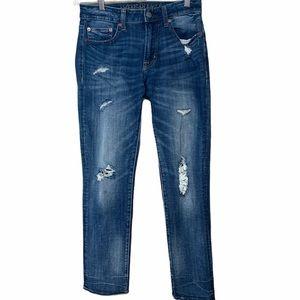 AEO Extreme Flex 4 Slim Straight Distressed Jeans